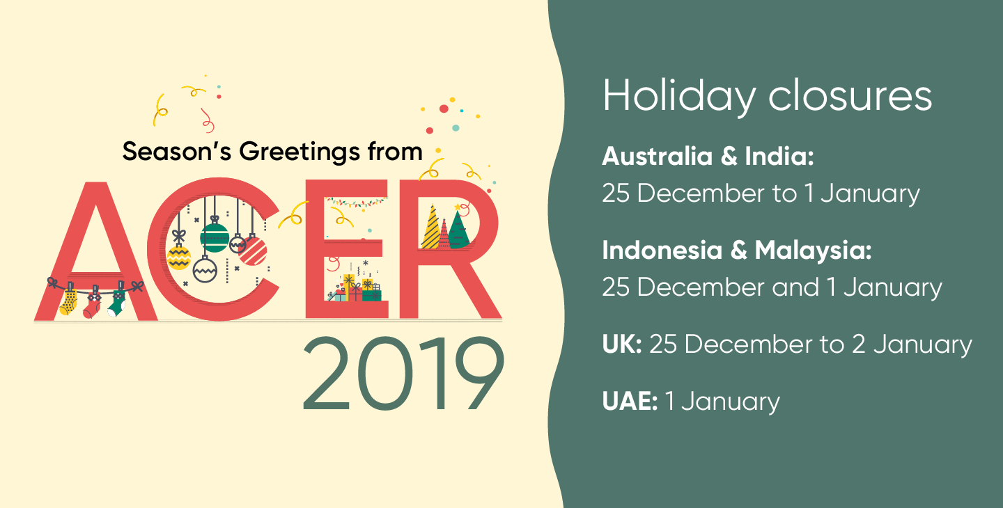 ACER office closures for the period 24 December 2019 to 2 January 2020.