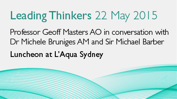 Leading thinkers luncheon at L'Aqua Sydney (22 May 2015)
