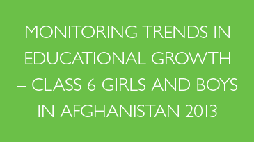 MTEG - Class 6 girls and boys in Afghanistan 2013