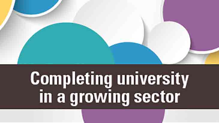 Completing university in a growing sector