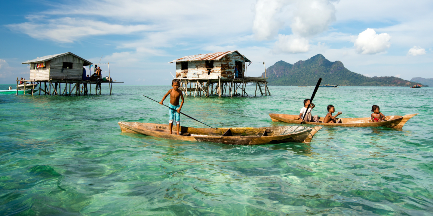The Bajau people are traditionally a nomadic seafaring community, many were displaced during the 2013 Zamboanga siege.